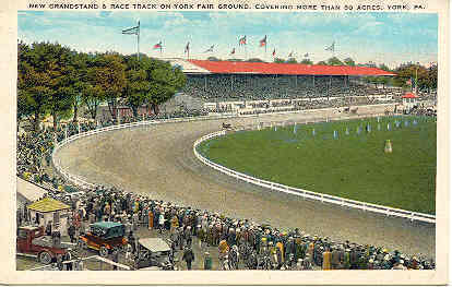 Primary image for York County Racetrack York Pennsylvania Vintage Post Card