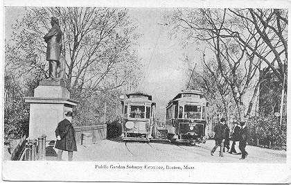 Public Garden Subway Boston Mass 1906 Vintage Post Card