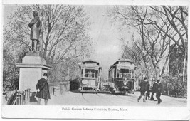 Public Garden Subway Boston Mass 1906 Vintage Post Card - $6.00