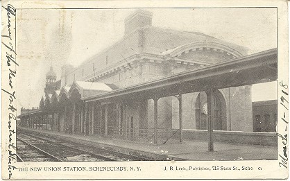 New Union Station Schenectady  New York 1906 Post Card