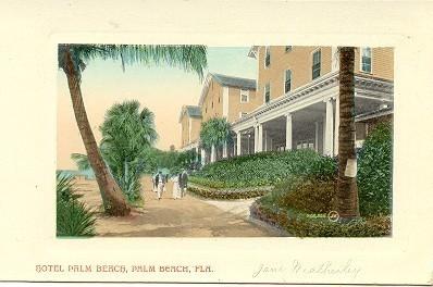 Hotel Palm Beach Florida Vintage Post Card