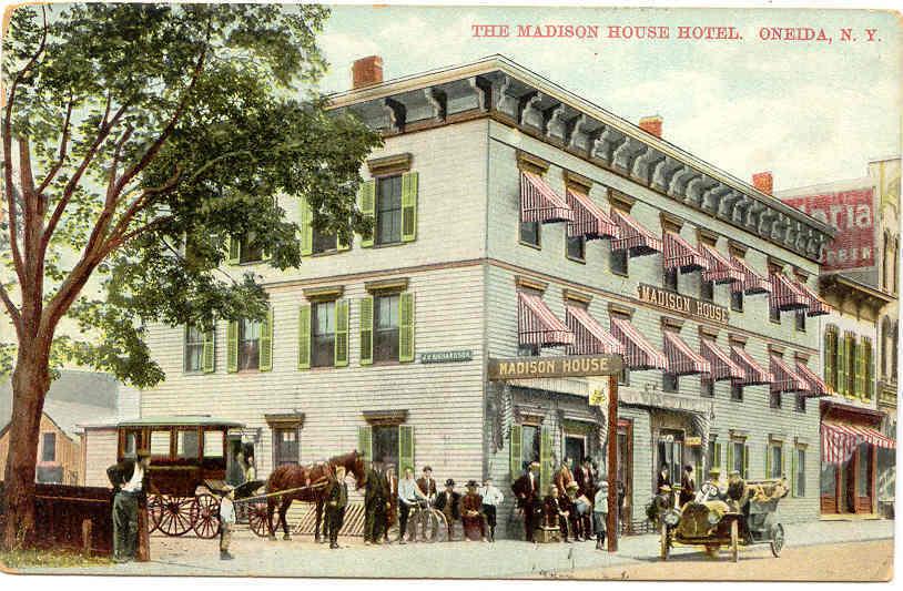 Madison House Hotel Oneida New York 1913 Post Card
