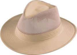Henschel Hiker Aussie Mesh Breezer Low Crown UPF 50+ Made In USA Khaki O... - $51.00