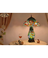 Tiffany Style Butterfly Stained Glass Table/ Desk Lamp E27 Bulb Reading ... - $273.37