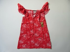 NWT Knot Sisters Sunny in Strawberry Red Floral Off-Shoulder Mini Dress ... - $18.99