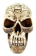 Cream Tribal Tattoo Skull Statue Halloween Decor Horror - $359,12 MXN