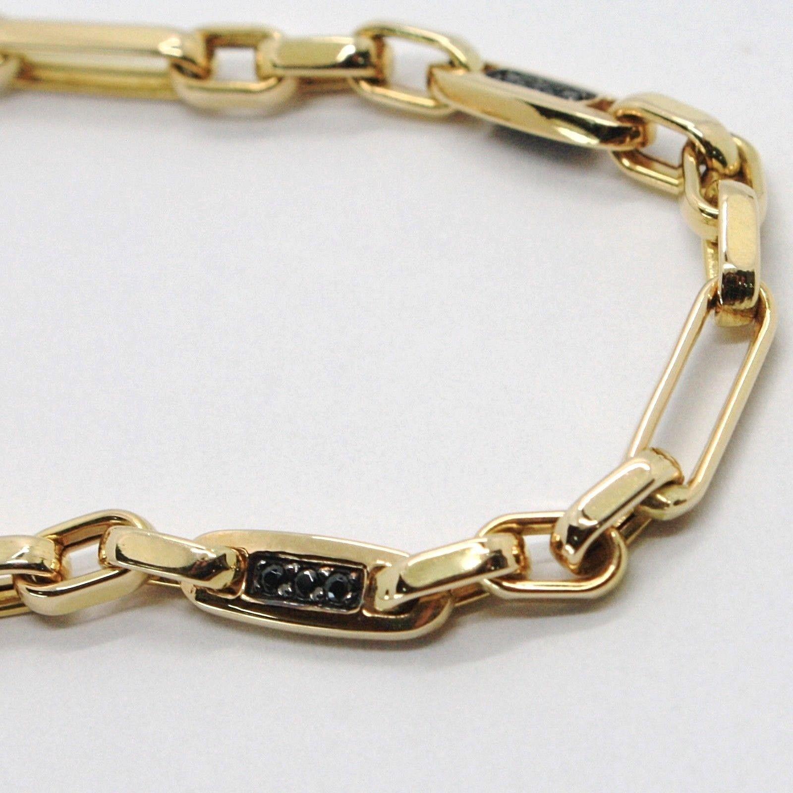 Armband Gold Gelbgold 18K 750,Röhren und Oval Wechselblinker,mit Zirkonia