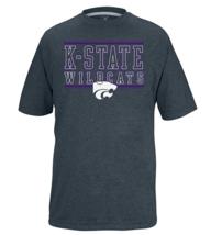 NCAA Kansas State Wildcats Youth Bar Design Vital Poly Tee Charcoal Heather M - $12.82