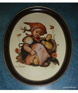 Chick Girl TR-H371 Goebel Hummel Oval Metal Tray 1983 ARS Edition Collec... - $19.39