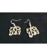 "Beautiful Vtg Pair Filigree Letter ""N"" Sterling Silver Pierced Dangle Ea... - $19.79"