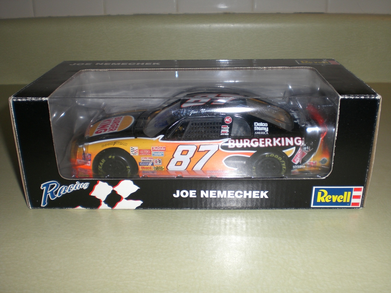 Joe Nemechek SIGNED Nascar 1/24 Burger King diecast car RARE