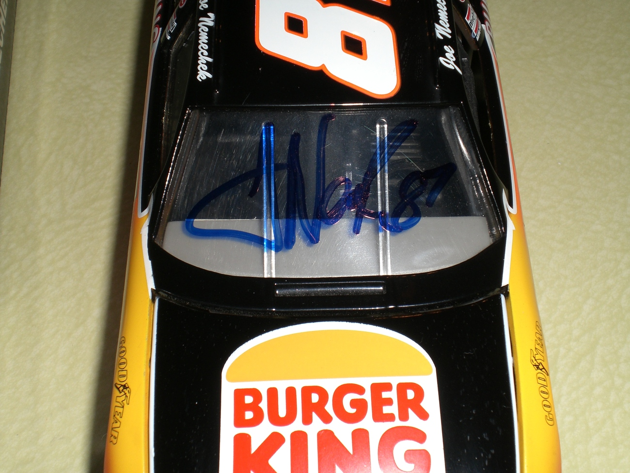 Joe Nemechek SIGNED Nascar 1/24 Burger King diecast car RARE image 3