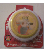 Disney theme park Queen of hearts Off With Your Head hot button Brand New  - $9.95