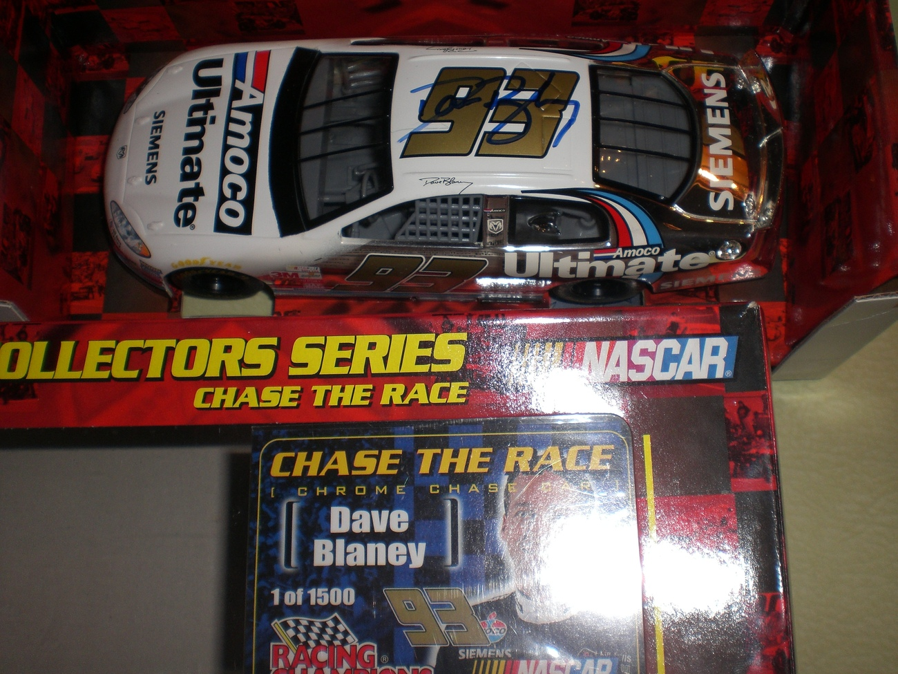Dave Blaney SIGNED 1/24 Nascar 2 Chase diecast car LOT image 3