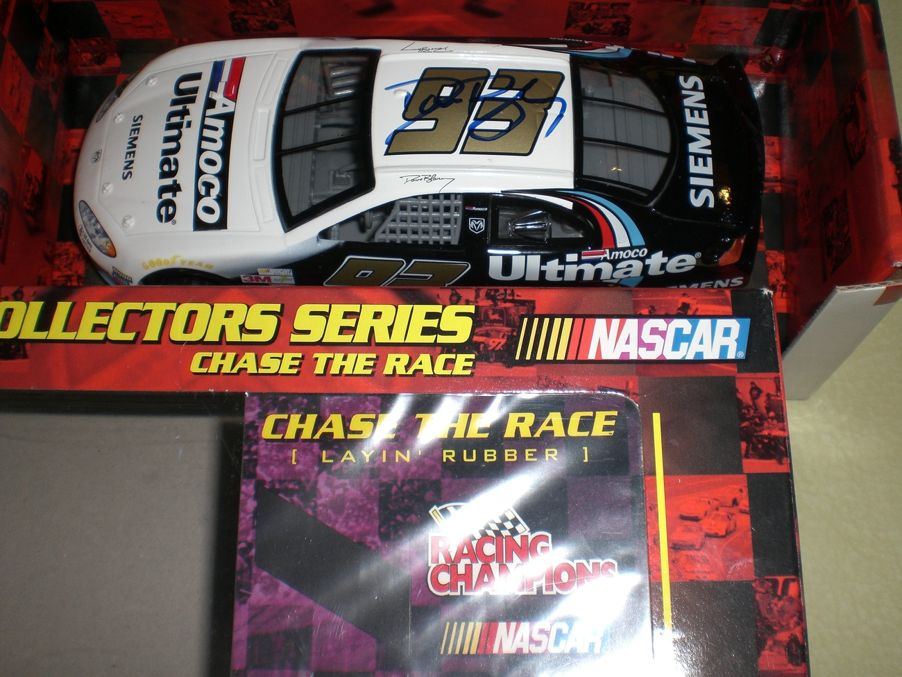 Dave Blaney SIGNED 1/24 Nascar 2 Chase diecast car LOT image 4