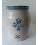 "Blue Country Decor Stoneware Crock No Lid 9"" Talll - $27.71"