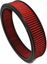 """HIGH FLOW WASHABLE & REUSABLE ROUND AIR FILTER ELEMENT REPLACEMENT 14"""" X 3"""" RED image 5"""