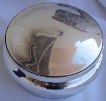 Beautiful silver jewelry box
