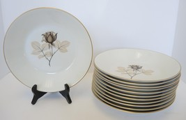 8 Bread & Butter Plates  Rosenthal China * Shadow Rose Pattern - $21.27