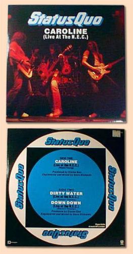 "hard rock STATUS QUO Caroline LIVE uk 1982 12"" EP PS image 2"