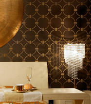 Wallpaper Stencil Chain Link - Beautiful stencils for DIY home decor - $39.95