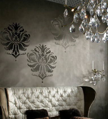 Primary image for Damask Stencil Gabi's Brocade LG, DIY Reusable stencil not wallpaper