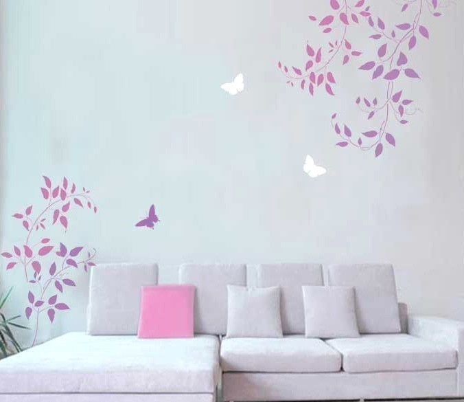 Primary image for Wall Stencils Clematis Vine 3pc kit, Easy DIY Wall decor with stencils