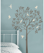 Large Tree and Birds Stencil- DIY Reusable Stencils Better than Decals - €71,79 EUR