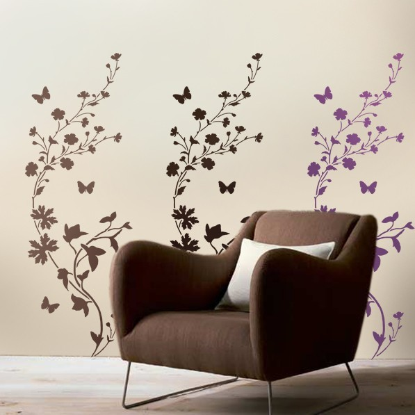 Primary image for Stencil Wildflower border/stripe LG - Reusable stencil for wall decor