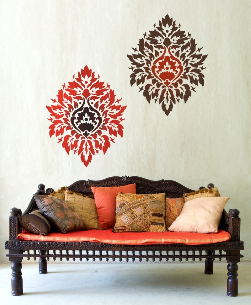 Primary image for Damask Stencil Nadya LG, DIY reusable stencils instead of wallpaper
