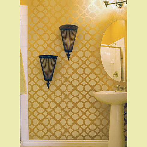 Wall Stencil Hand Forged SM, DIY Reusable stencils just like wallpaper - $39.95