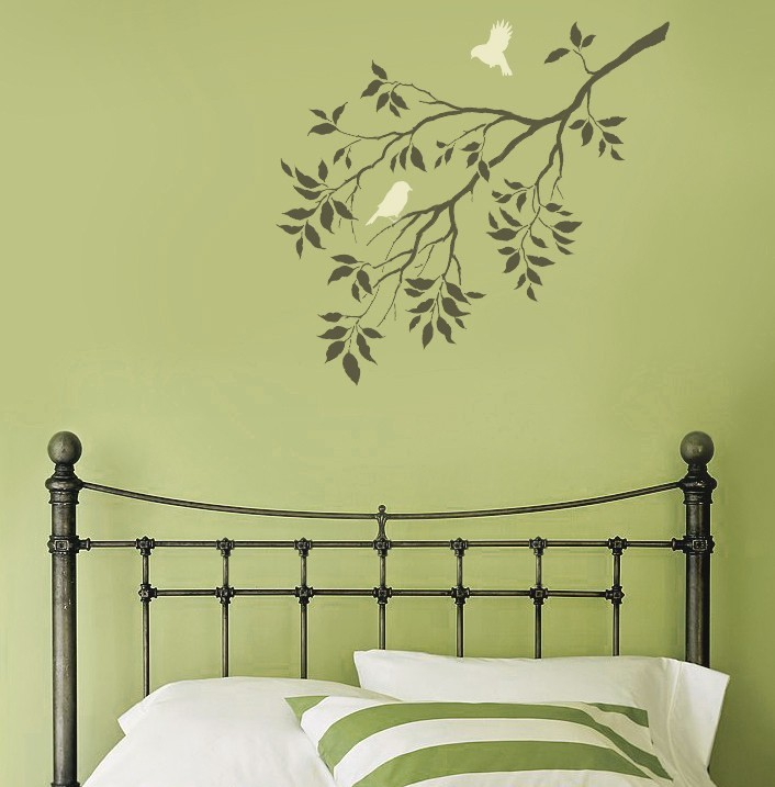 Primary image for Stencil Birds on a Branch, DIY decor with stencils better than decals