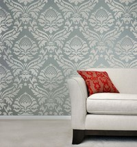 Damask Stencil Abundance - DIY Reusable stencil better than wallpaper - $49.95