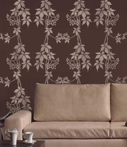 Wall Stencil Virginia Creeper, DIY Allover Stencils not wallpaper - $41.95