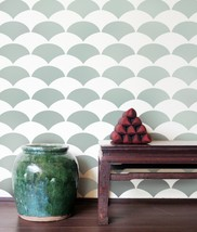 Allover Stencil Fishscale, Reusable wall stencils instead of wallpaper - $38.95