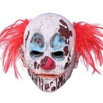 Halloween Clown Mask Full Head Latex Scary Clown Mask with Hair Mask for... - £12.55 GBP
