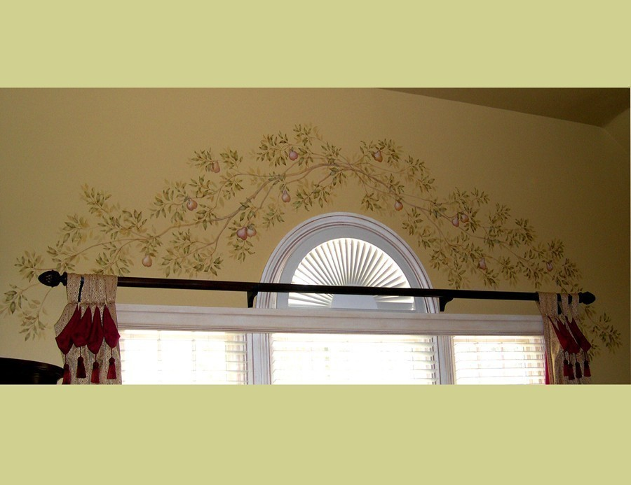 Reusable Stencil Citrus Branches Wall And Ceiling Decor - ceiling stencils for walls designs
