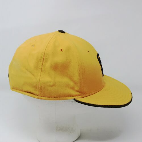 New Era 59Fifty San Diego Padres 7 5/8 Fitted USA Wool Hat Gold & Brown image 5