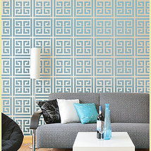Wall Stencil Athena, DIY decor Reusable stencils better than wallpaper - $39.95