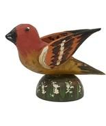 HAND CARVED BIRD - Vintage Pennsylvania Dutch Wood USA Folk Art - Ben F Hoover - $382.17