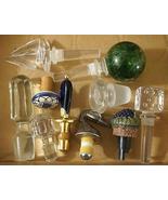 Vintage Crystal Ceramic Lucite Wine Bottle Stopper Lot Rare ROSENTHAL Bl... - $125.00