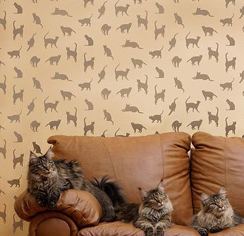 Primary image for Stencil Pattern Cats,Cats,Cats - Reusable Stencil for walls & fabrics