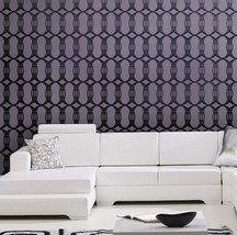 Wall Stencil Cosmopolitan, DIY reusable stencils instead of wallpaper - $39.95