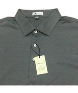 New Peter Millar Men's Crown Polo Shirt Size XL Iron Gray Striped 100% C... - $59.99