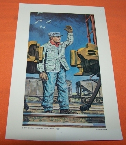 Model Train Railroad Print The BreakMan