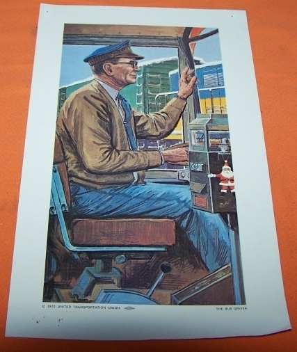 Model Train Railroad Print The Bus Driver