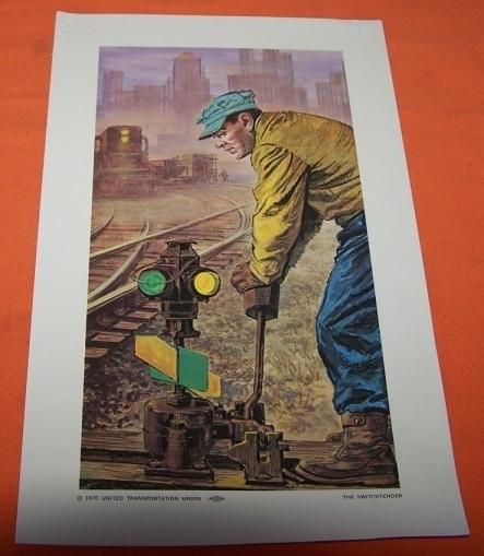 Model Train Railroad Print The Switch Tender