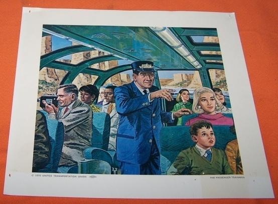 Model Train Railroad Print The Passenger Trainman