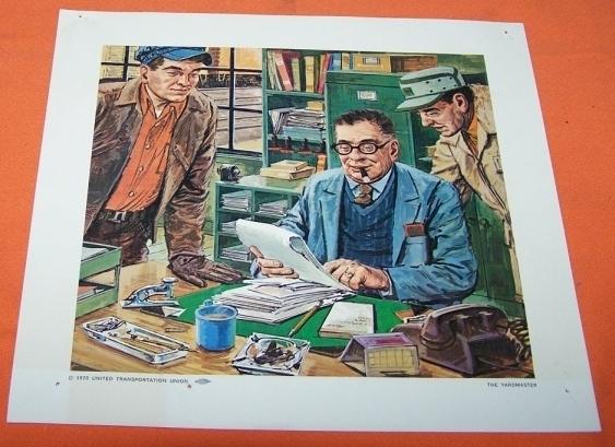 Model Train Railroad Print The Yard Master