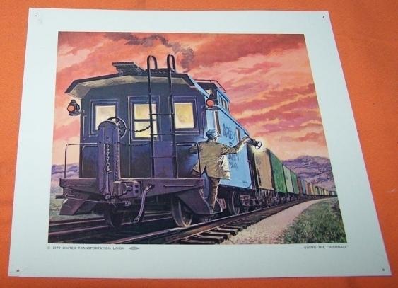 Train prints thehighball